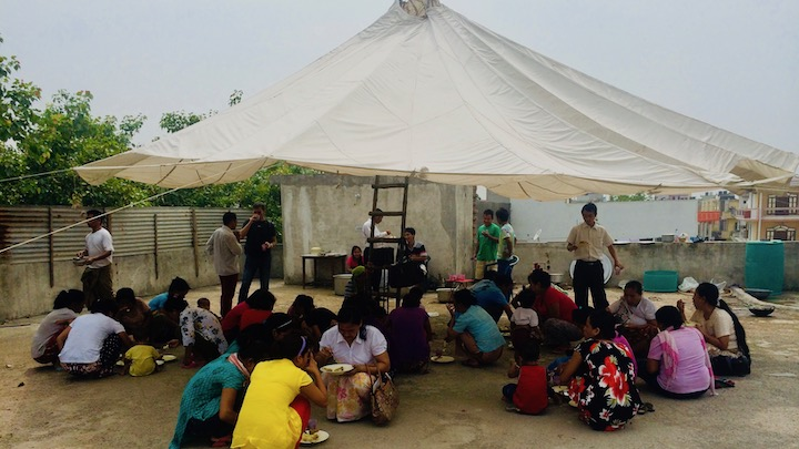 Bible School for Burmese refugees in Delhi